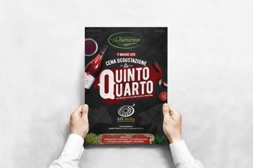 Mockup Poster Cena Quinto Quarto Il Rosmarino